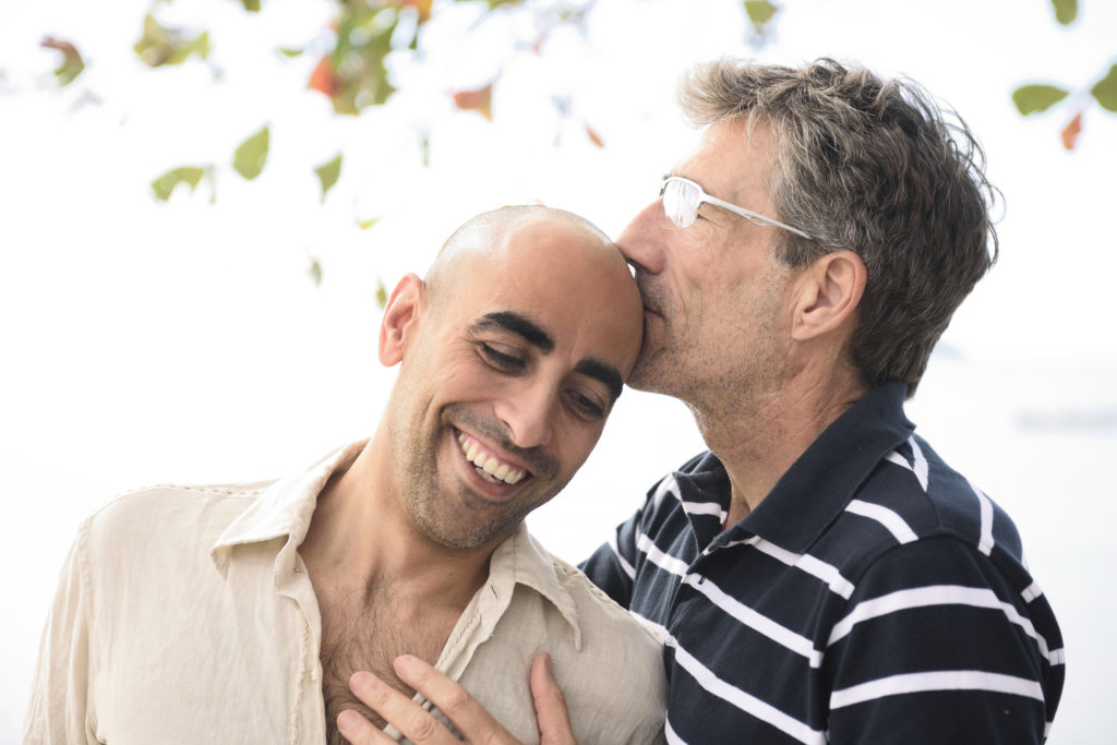 LGBTQIA and the Enneagram gay couple kiss