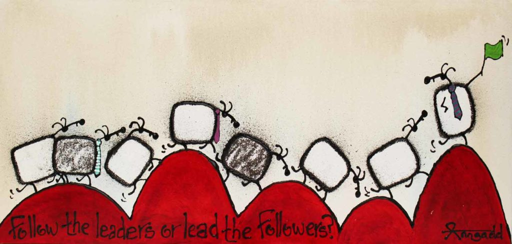 Follow the leaders or lead the followers - by Ann Gadd